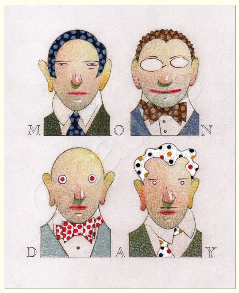 Monday - pastel on paper - 27 x 22 cm