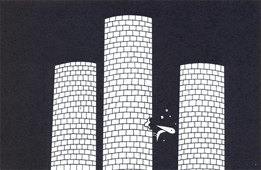 Um dos cartuns do livro